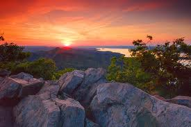 View from Pinnacle Mountain at sunset.